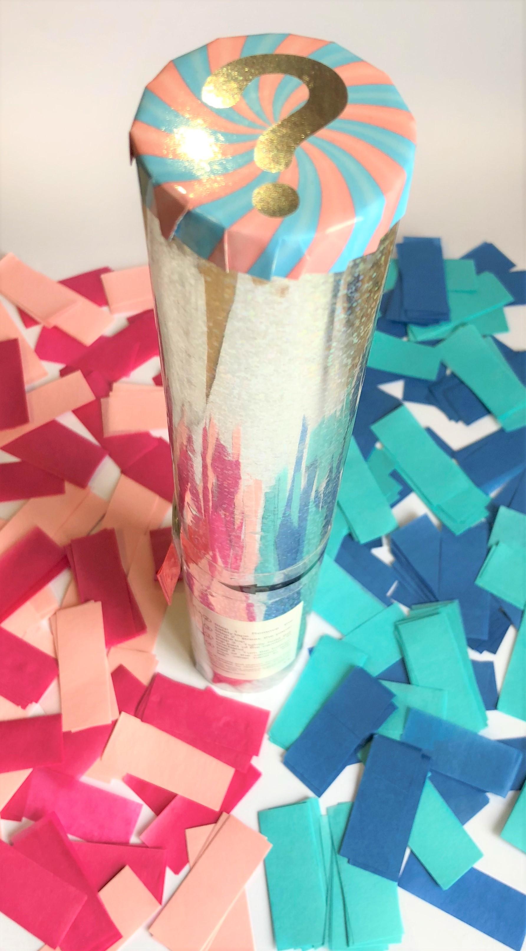 Gender Reveal Confetti Cannon Colours